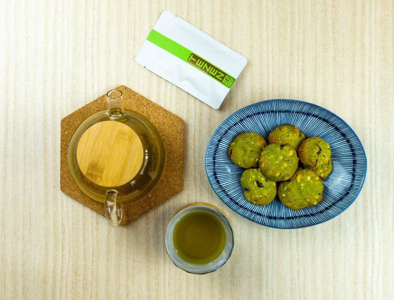 Matcha-Kekse-mit-Bancha-Tee-1 Trail Mix Cookies mit Matcha